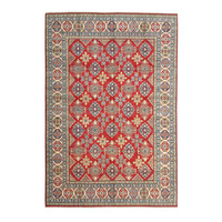 shal Hand knotted  11'9x 8'7 wool kazak area rug  363x268 cm  Oriental carpet