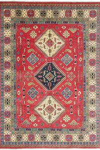 Handgeknoopt kazak tapijt 354x277 cm  oosters kleed vloerkleed