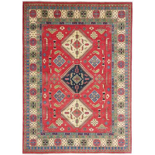 Hand knotted  11'6x 9' wool kazak area rug  354x277 cm  Oriental carpet