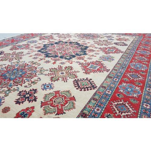 Handgeknüpft wolle kazak teppich  357x279 cm   Orientalisch teppichboden
