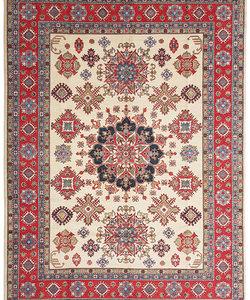 Handgeknoopt kazak tapijt 357x279 cm  oosters kleed vloerkleed