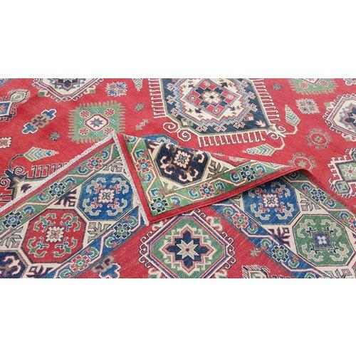 Handgeknoopt kazak tapijt 353x281 cm  oosters kleed vloerkleed