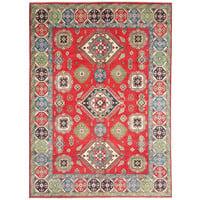 Handgeknüpft wolle kazak teppich  353x281  cm   Orientalisch teppichboden