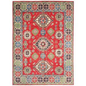 Hand knotted  11'5x 9' wool kazak area rug  353x281  cm  Oriental carpet