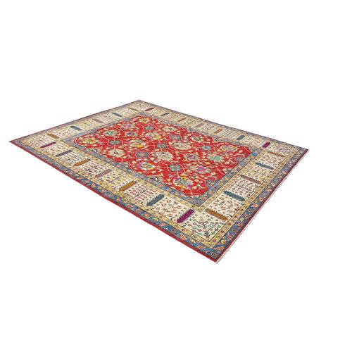 Handgeknoopt kazak tapijt 365x283 cm  oosters kleed vloerkleed