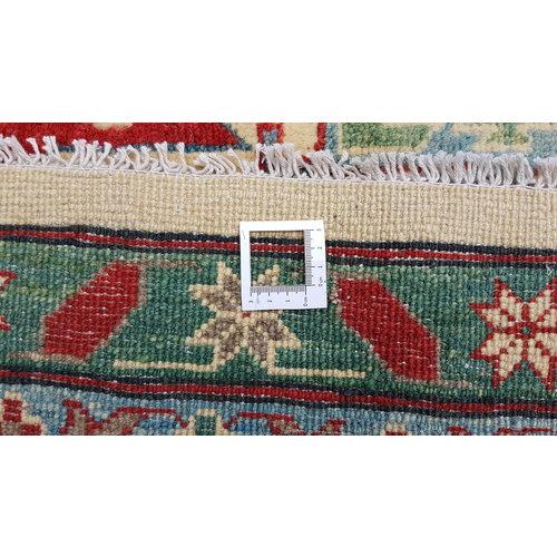 shal Hand knotted  11'8x 9' wool kazak area rug  362x279 cm  Oriental carpet