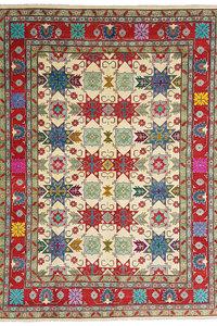 Handgeknoopt kazak tapijt 362x279 cm  oosters kleed vloerkleed