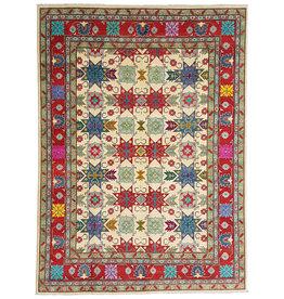 ZARGAR RUGS Handgeknoopt kazak tapijt 362x279 cm  oosters kleed vloerkleed