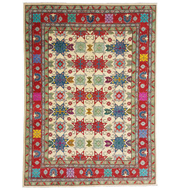 ZARGAR RUGS shal Hand knotted  11'8x 9' wool kazak area rug  362x279 cm  Oriental carpet