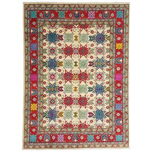 Handgeknüpft wolle kazak teppich  362x279 cm   Orientalisch teppichboden