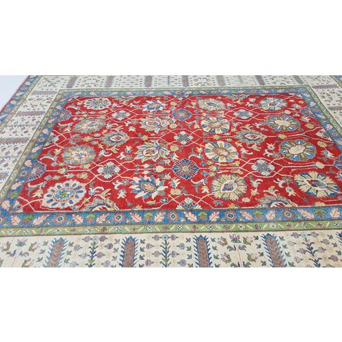 Handgeknoopt kazak tapijt 353x277 cm  oosters kleed vloerkleed