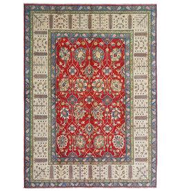 ZARGAR RUGS Hand knotted  11'5x 9' wool kazak area rug  353x277  cm  Oriental carpet