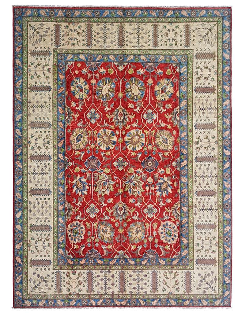 ZARGAR RUGS Handgeknüpft wolle kazak teppich  353x277 cm   Orientalisch teppichboden
