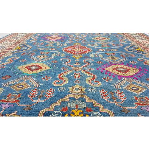 Handgeknoopt kazak tapijt 365x282 cm  oosters kleed vloerkleed