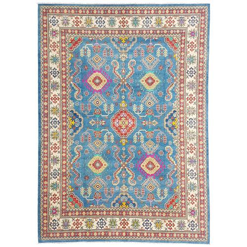 shal Hand knotted  11'9x 9' wool kazak area rug  365x282 cm  Oriental carpet