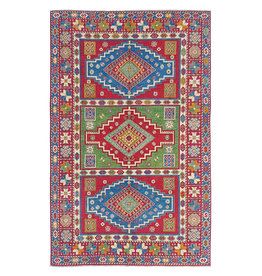 ZARGAR RUGS Hand knotted  8'7x5'7  wool kazak area rug 267x175 cm  Oriental carpet
