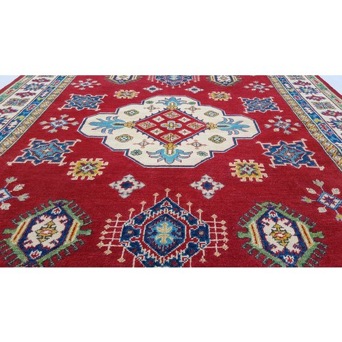 Handgeknoopt kazak tapijt 267x174 cm oosters kleed vloerkleed