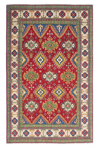 Hand knotted  9'7x6' wool kazak area rug   298x197 cm   Oriental carpet