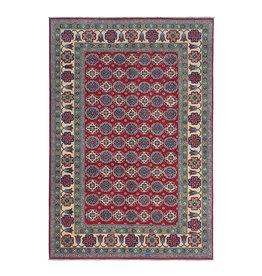 ZARGAR RUGS Hand knotted  9'x6'5 wool kazak area rug  286x200 cm  Oriental carpet