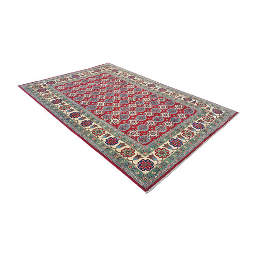 Handgeknoopt kazak tapijt 286x200 cm  oosters kleed vloerkleed