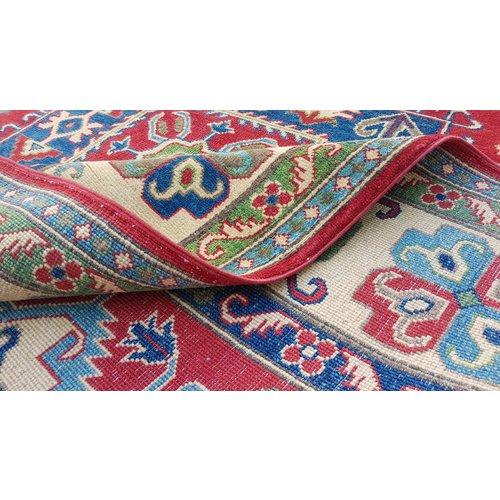Handgeknoopt kazak tapijt 274x185 cm oosters kleed vloerkleed