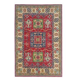 ZARGAR RUGS Hand knotted  8'9x6  wool kazak area rug 274x185 cm  Oriental carpet