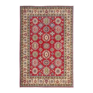 Hand knotted  9'5 x 6'5 wool kazak area rug  290x200 cm   Oriental carpet