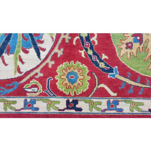 Handgeknoopt kazak tapijt 296x200 cm  oosters kleed vloerkleed