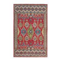 Handgeknüpft wolle kazak teppich 298x200 cm   Orientalisch  teppich