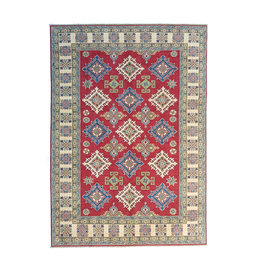 ZARGAR RUGS Hand knotted  8'9x6' wool kazak area rug 272x186 cm  Oriental carpet