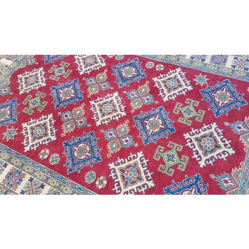 Handgeknoopt kazak tapijt 272x186 cm oosters kleed vloerkleed