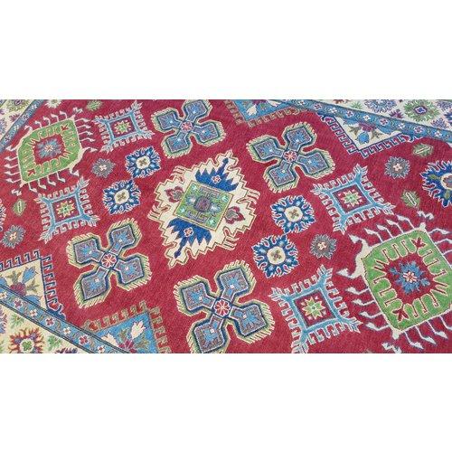 Handgeknoopt kazak tapijt 274x190 cm oosters kleed vloerkleed