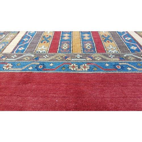 Hand knotted  9'6x6'6 wool kazak area rug  294x204 cm  Oriental carpet