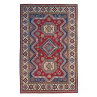 Hand knotted  8'9x6'  wool kazak area rug 273x183 cm  Oriental carpet