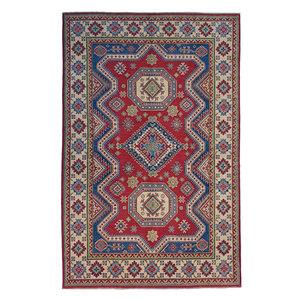 Handgeknoopt kazak tapijt 273x183 cm oosters kleed vloerkleed