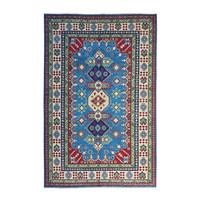 Hand knotted  9'6x 6'6 wool kazak area rug  295x202 cm   Oriental carpet