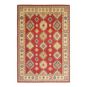 Hand knotted  12'x 9' wool kazak area rug  378x283 cm   Oriental carpet