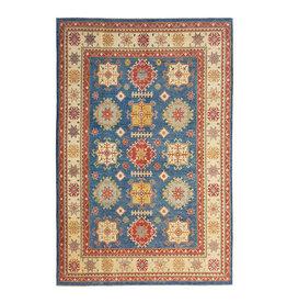 ZARGAR RUGS Hand knotted  12'7x 9' wool kazak area rug  388x277 cm   Oriental carpet