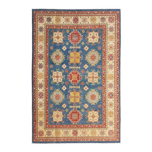 Hand knotted  12'7x 9' wool kazak area rug  388x277 cm   Oriental carpet