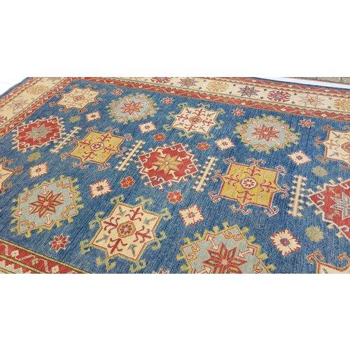 Handgeknoopt kazak tapijt 388x277 cm  oosters kleed vloerkleed
