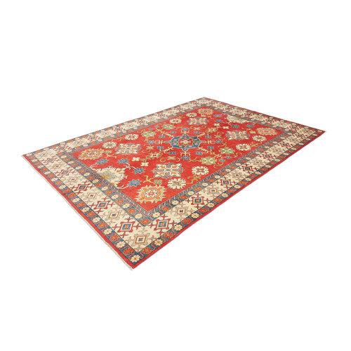 Handgeknoopt kazak tapijt 378x263 cm  oosters kleed vloerkleed