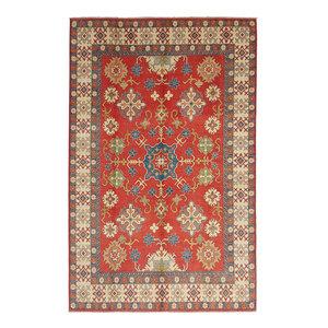 Handgeknüpft wolle kazak teppich 378x263 cm   Orientalisch  teppich