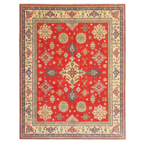 Hand knotted  9'8 x 8' wool kazak area rug  300x244 cm Oriental carpet