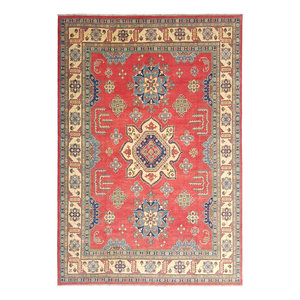 Hand knotted  12'x 9' wool kazak area rug  367x277 cm Oriental carpet