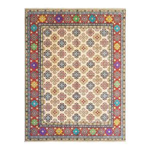 shal Hand knotted  10'x 8' wool kazak area rug  305x248 cm  Oriental carpet
