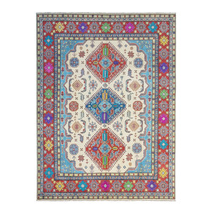 Hand knotted 10' x 8'  wool kazak area rug 307x244 cm  Oriental carpet