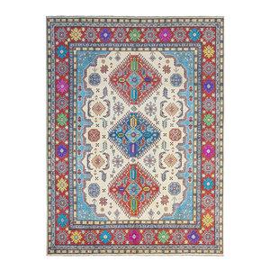Handgeknoopt kazak tapijt 307x244 cm  oosters kleed vloerkleed