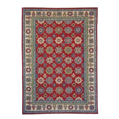 Hand knotted  9'6x6'  wool kazak area rug  293x192 cm   Oriental carpet