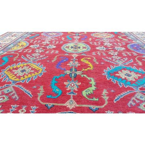 Handgeknoopt kazak tapijt 319x250 cm  oosters kleed vloerkleed
