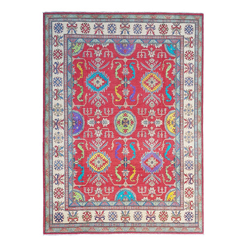 Hand knotted 10'x 8'  wool kazak area rug 319x250 cm  Oriental carpet